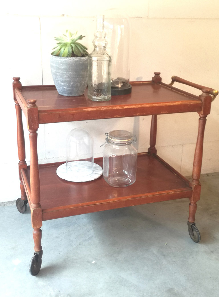 Bar Trolley van hout